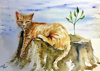 Painting - Lazy Evening by Katerina Kovatcheva