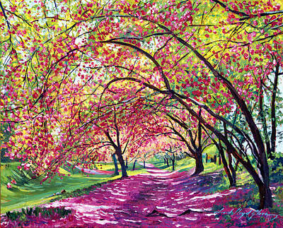 Trees Blossom Painting - Lazy On A Sunday Central Park by David Lloyd Glover