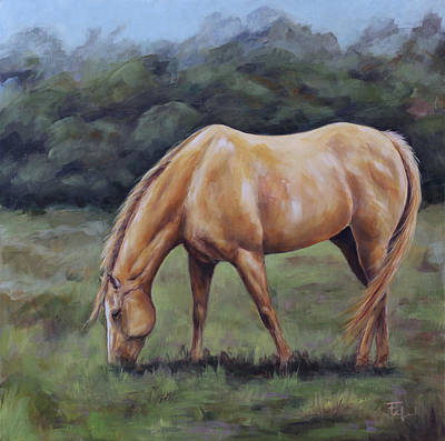 Painting - Lazy Pasture Days by Joan Frimberger