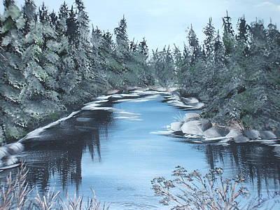 Lazy River Art Print by Bev  Neely
