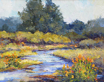 Cottonwood Painting - Lazy River by Peggy Wilson