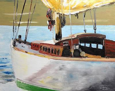 Painting - Lazy Sloop by Stan Tenney