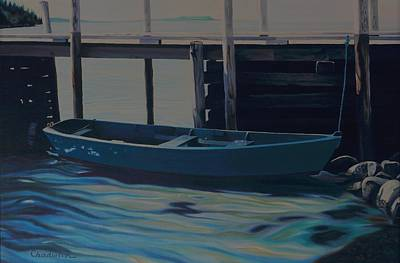 Painting - Lazy Summer Rowboat by Phil Chadwick