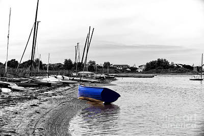 Photograph - Lbi Blue Boat Fusion by John Rizzuto