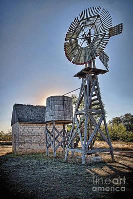 Photograph - Lbj Homestead Windmill by Sam Stanton