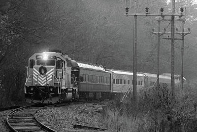 Photograph - Lc Santa Train 2014 Bw by Joseph C Hinson Photography