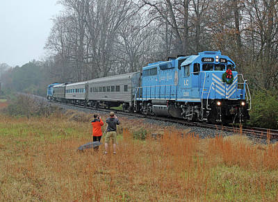 Photograph - Lc Santa Train 2014 H by Joseph C Hinson Photography