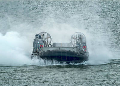 Photograph - Lcac Action by Travis Rogers