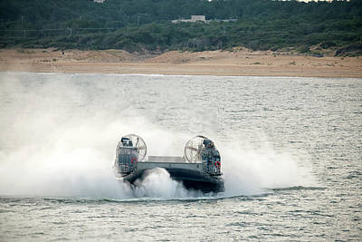 Photograph - Lcac Afloat by Travis Rogers