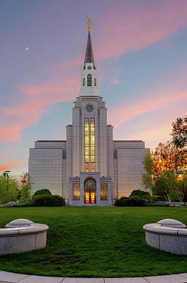 Photograph - Lds Belmont by Mike Ste Marie