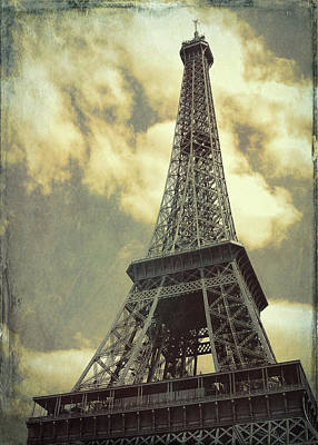 Photograph - Le 58 Tour Eiffel Grunge by JAMART Photography
