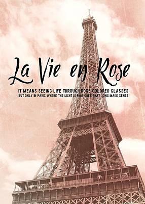 Le 58 Tour Eiffel Quote Art Print by JAMART Photography