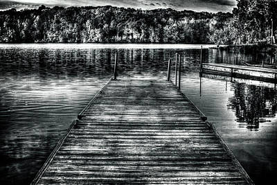 Photograph - Le-aqua-na Boat Dock October Morning by Roger Passman