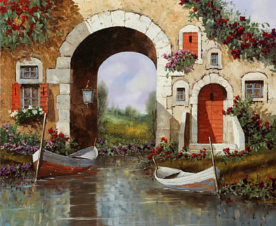 Paintings - Le Barche Sotto Larco by Guido Borelli