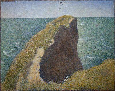 Pointilism Painting - Le Bec Du Hoc, Grandcamp by Georges Seurat