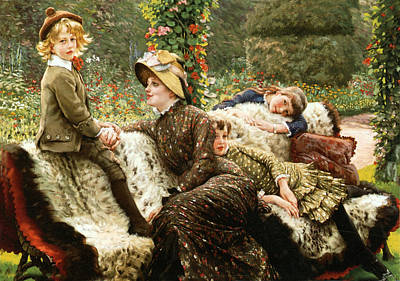 Photograph - Le Blanc De Jardin by James Joseph Tissot