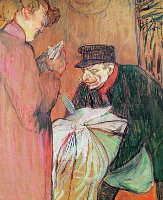 Regard Painting - Le Blanchisseur De La Maison, 1894 by Henri de Toulouse-Lautrec