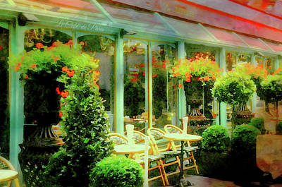 Photograph - Le Cafe De Paris by Diana Angstadt