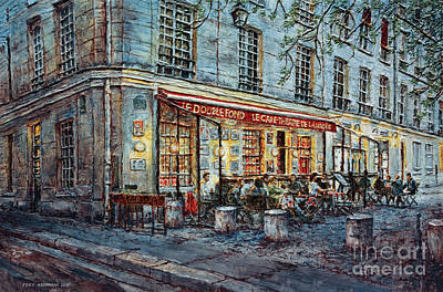 Painting - Le Cafe- Theatre De La Magie by Joey Agbayani