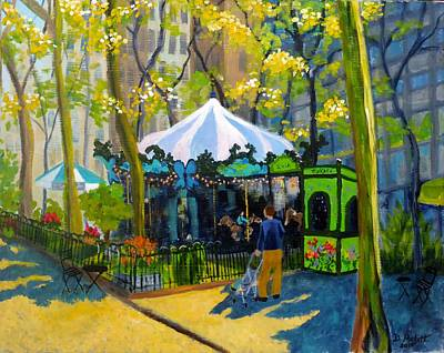 Painting - Le Carrousel In Bryant Park by Diane Arlitt