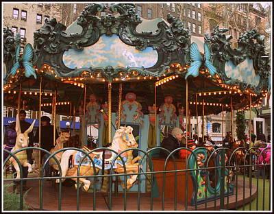 Le Carrousel In Bryant Park, New York City Art Print by Dora Sofia Caputo Photographic Art and Design