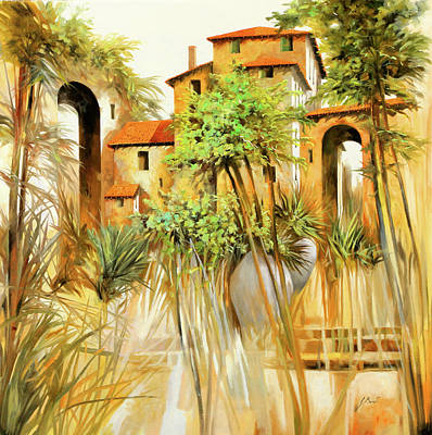 Painting Rights Managed Images - Le Case Volanti Royalty-Free Image by Guido Borelli