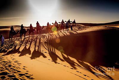 Photograph - Le Chameau Desert Caravan by Rene Triay Photography