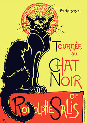Steinlen Drawing - Le Chat Noir by Theophile Steinlen
