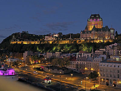 Photograph - Le Chateau Frontenac  by Farol Tomson