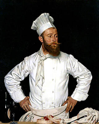 Chatham Painting - Le Chef De L'hotel Chatham by William Orpen