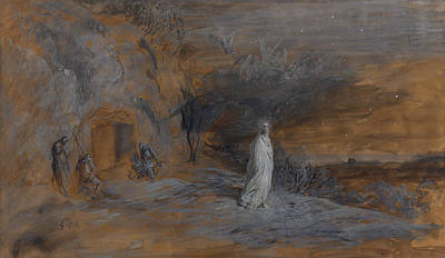Drawing - Le Christ Sortant Du Tombeau by Gustave Dore