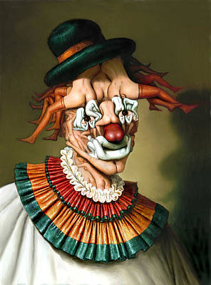 Painting - Le Clown Aux Nues by Andre Martins de Barros