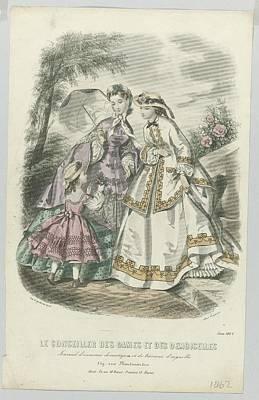 Colorful Art Journal Painting - Le Conseiller Des Dames Et Des Demoiselles, Juin 1862 Journal D Economie..., Anonymous, A. Leroy, 18 by Celestial Images