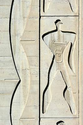 Low Relief Photograph - Le Corbusier Design by Chris Hellier