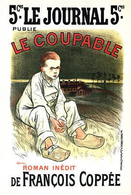 Mixed Media - Le Coupable - De Francois Coppee - Vintage Art Nouveau Poster by Studio Grafiikka