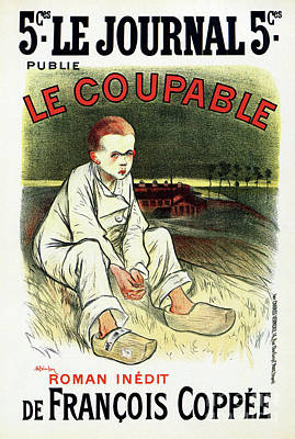 Steinlen Drawing - Le Coupable The Guilty One by Aapshop