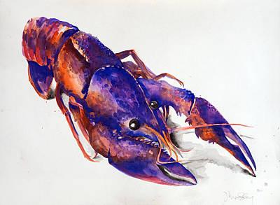 Boiled Crawfish Painting - Le Crawfish by Jennifer Lindsley