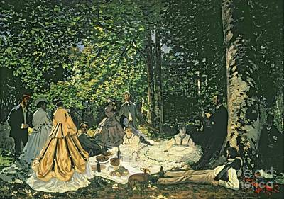 1866 Painting - Le Dejeuner Sur Lherbe by Claude Monet