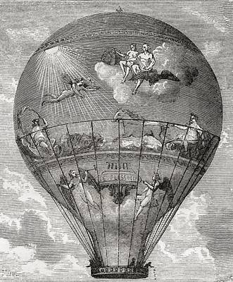 Le Flesselle Balloon Made By The Art Print by Vintage Design Pics