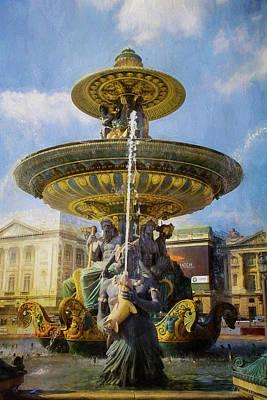 Photograph - Le Fontaine Des Fleuves by John Rivera