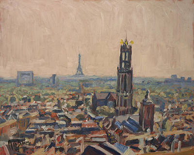 Holland Painting - Le Grand Depart A Utrecht by Nop Briex