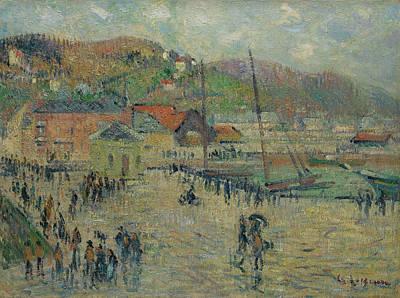 Le Grand Quai Art Print by Gustave Loiseau