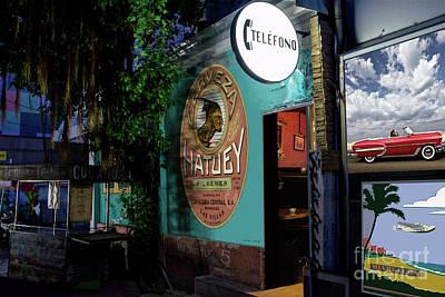 St. Louis Mixed Media - Le Habana, Cuba, Night Club, Hatuey Cerveza by Thomas Pollart