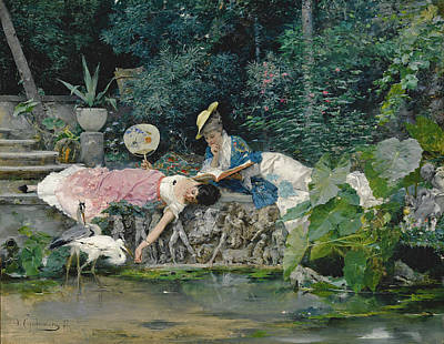 Borghese Painting - Le Heron Familier by Vincente Capobianchi