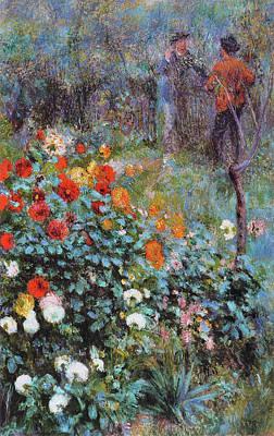 Painting - Le Jardin De La Rue Cortot A Montmartre by Pierre-Auguste Renoir