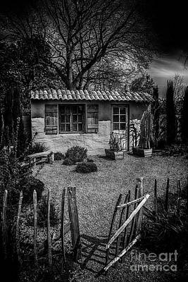 Photograph - Le Jardin De Vincent Black And White by Chris Thaxter