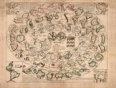 Royalty-Free and Rights-Managed Images - le jeu du monde - Board Game - Historical Map - Paris 1645 by Studio Grafiikka