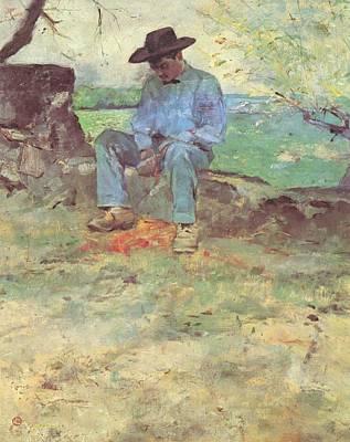 Painting - Le Jeune Routy by Henri Toulouse-Lautrec
