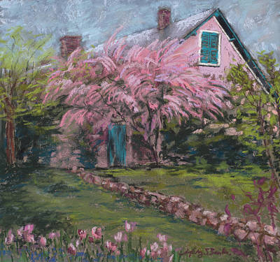 Pastel - La Maison De Monet by Mary Benke