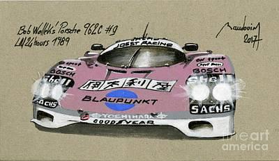 919 Painting - Le Mans 1989 Porsche 962 by Alain Baudouin